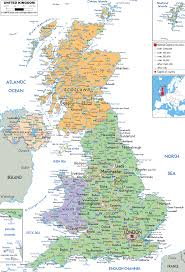 France Map With Cities by Map Of Uk Map Of United Kingdom And United Kingdom Details Maps
