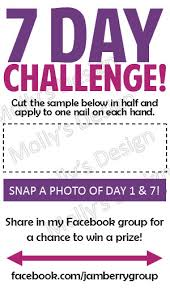 Jamberry Sample Cards Items Similar To Jamberry 7 Day Challenge Business Card Digital