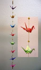 beaded crane ornament origami decoration hanging origami cranes