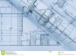 blue architectural plan stock photo image 40048532