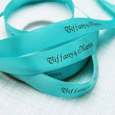personalized ribbons blue 5 8 satin personalized continuous ribbons