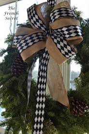 black and white wired ribbon christmas black white harlequin wired ribbon by thefrenchsecret