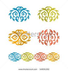 vector ornament kazakh ornament stock vector 349091282