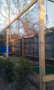 Batting Cage For Backyard by Home Batting Cage With Pitching Machine Google Search Baseball