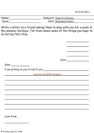 primaryleap co uk informal letters worksheet
