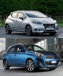 nissan micra 2017 2017 nissan micra vs old model front quarters indian autos blog