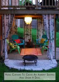 hanging curtains for privacy under your deck dump a day