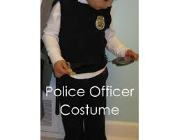 Kids Police Halloween Costume Handmade Diy Police Officer Costume Minute