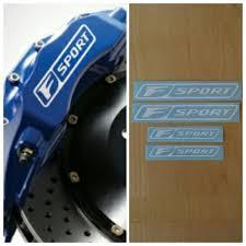 lexus f sport calipers amazon com r u0026g f sport brake caliper high temp decal sticker set