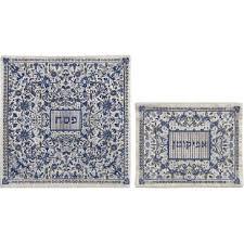 matzah cover and afikomen bag set blue matzah cover or afikomen bag by yair emanuel