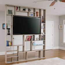 Floating Bookcases Hand Crafted Lexington Room Divider Bookshelf Tv Stand By Corl