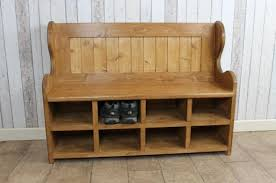 bench with shoe rack handmade in pine bespoke monks bench pew settle