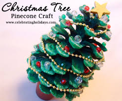 pinecone christmas tree craft celebrating holidays