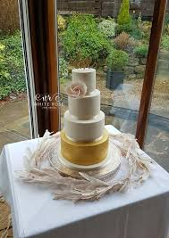 Wedding Cake Leeds Ivory Gold With A Touch Of Blush Wedding Cake
