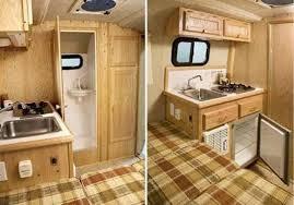 Cargo Trailer With Bathroom Scamp 13 U0027 Small Travel Trailer Interior Deluxe Model Bathroom