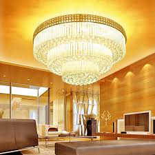 Crystal Ceiling Mount Light Fixture by Luxury 31 4 Diameter Three Tiered Flush Mount Crystal Ceiling Lights
