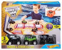 Monster Jam Rug Wheels Monster Jam Smash And Stash Playmat Toys