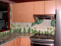 Kitchen Mural Backsplash Hawaii Kitchen Backsplash U2013 Thomas Deir Honolulu Hi Artist