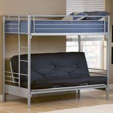 walker edison black metal twin futon bunk bed size full futon