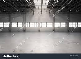 3d rendering empty factory interior empty stock illustration