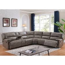 Sectional Sofa Sale Free Shipping by Global Furniture Mocha Chenille 3 Piece Reclining Modern Sectional