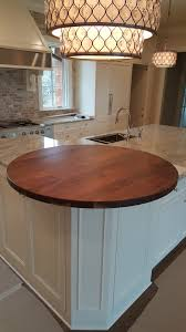 countertops brun millworks walnut flat grain wood countertop 48 diameter circle roundover edge permanent finish designed by arcadia homes