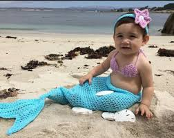 Infant Mermaid Halloween Costume Mermaid Tail Baby Etsy