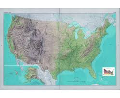 New York Relief Map by Maps Of The Usa The United States Of America Political