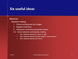 Six Selves - six useful ideas maybe on health decision making mikes plenary u2026