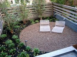 Ideas For Backyard Patio by Exterior Pea Gravel Patio For Traditional Patio Floor Design