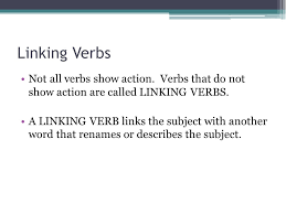 verbs action linking helping verb subject agreement ppt download