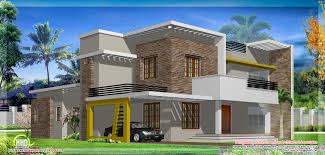 modern flat roof house design kerala home design and floor plans