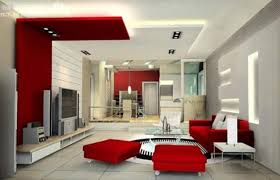 designing interior of house part red and white living room idolza