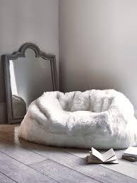sumptuous sheepskin double beanbag ivory