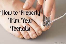 how to properly trim your toenails