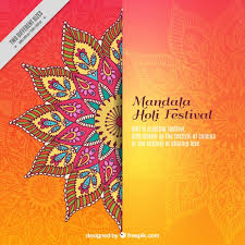 wedding backdrop design vector mandala holi festival background vector free