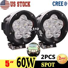 Led Driving Lights Automotive 2x 5 Inch 60w Cree Led Driving Light Spot Round Offroad Work Lamp