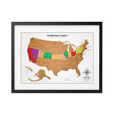 Scratch Off Map Buy The Best Scratch Off Usa Map With All 59 National Parks