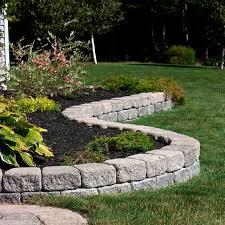garden edge concrete linear curved antique wedgestone