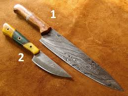 top quality kitchen knives set of 2 handmade damascus steel kitchen knife chef s knife 374