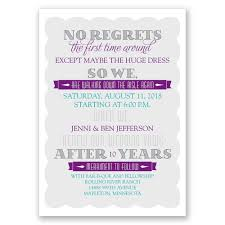 renew wedding vows no regrets vow renewal invitation invitations by