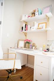 White Desk And Chair I U0027ve Been Promising To Do A Blog Post On My Office Space But Was
