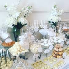 Flower Table L Wedding Dessert Table In White Buffets L Sweetie Tables L