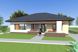 three bedroom bungalow design and 3d elevations single floor house