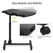 Swivel Laptop Desk Langria Laptop Rolling Cart Table Height Adjustable