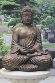ornate fan buddha garden ornament statue co uk
