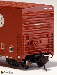 box car train ho scale gunderson 5200 box car bnsf