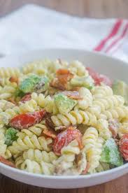 bacon tomato avocado pasta salad life u0027s ambrosia