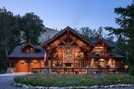 montana log and timber frame homes by precisioncraft