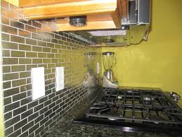 Glass Kitchen Backsplash Tile Metal Tile Backsplash Front Side Of The Metal Tile Brushed